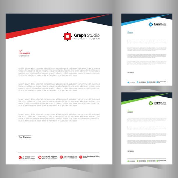 Letterhead Template Letterhead Template Vector letterhead stock illustrations