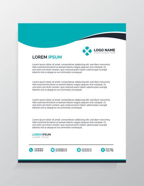 Letterhead Template Vector Letterhead Template Vector editable format. letterhead stock illustrations