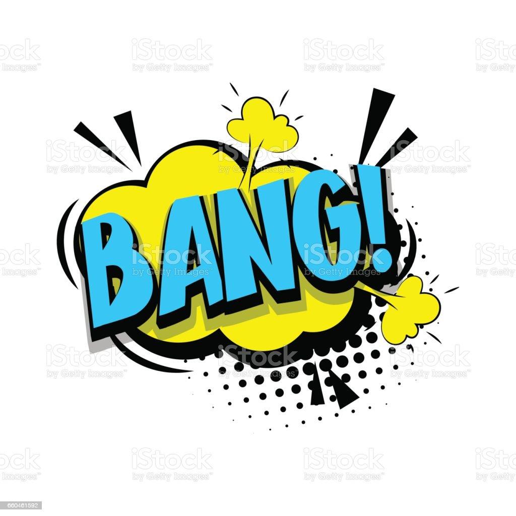 letras bang boom texto c mic pop art illustracion libre de