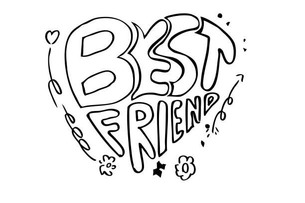 Royalty Free Bff Drawings Clip Art, Vector Images ...