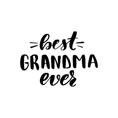 lettering best grandma ever