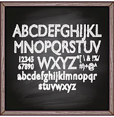 Lettering blackboard