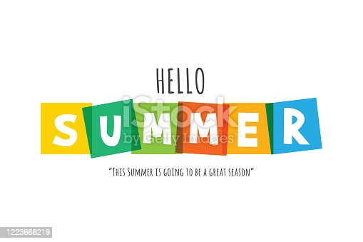 Lettering composition of Summer Vacation stock illustration