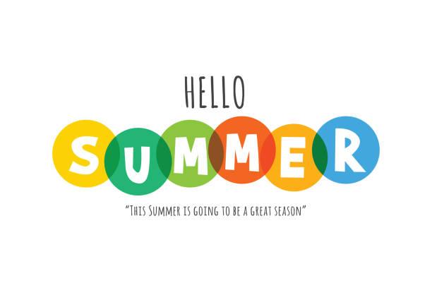 ilustraciones, imágenes clip art, dibujos animados e iconos de stock de composición de letras de la ilustración de stock de summer vacation - font