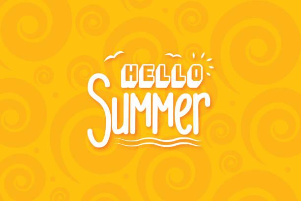 여름 방학 스톡 일러스트의 레터링 구성 - summer stock illustrations