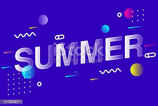 istock SUMMER Lettering Creative Design Vector Illustration 1273535271