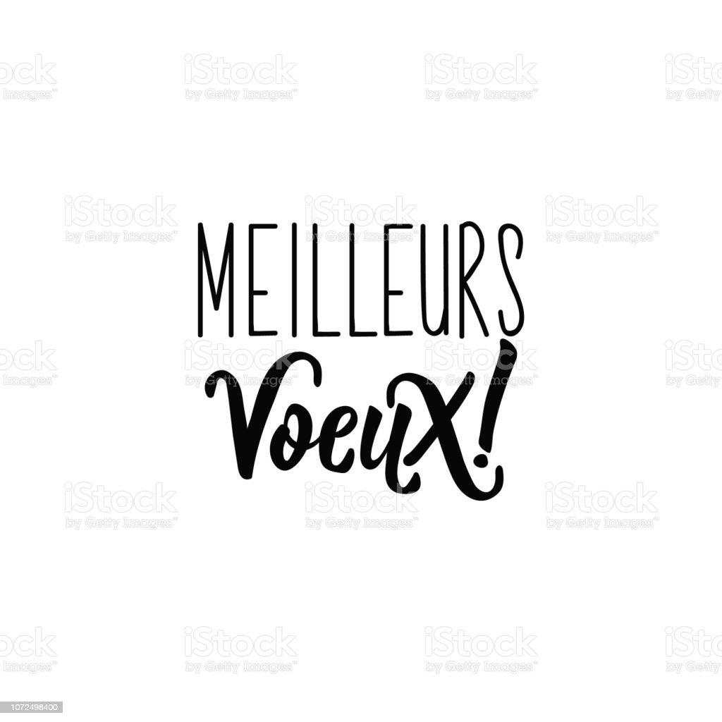 Lettrage Français Texte Meilleurs Voeux Meilleures Voeux Vecteurs Libres De Droits Et Plus Dimages Vectorielles De 2019