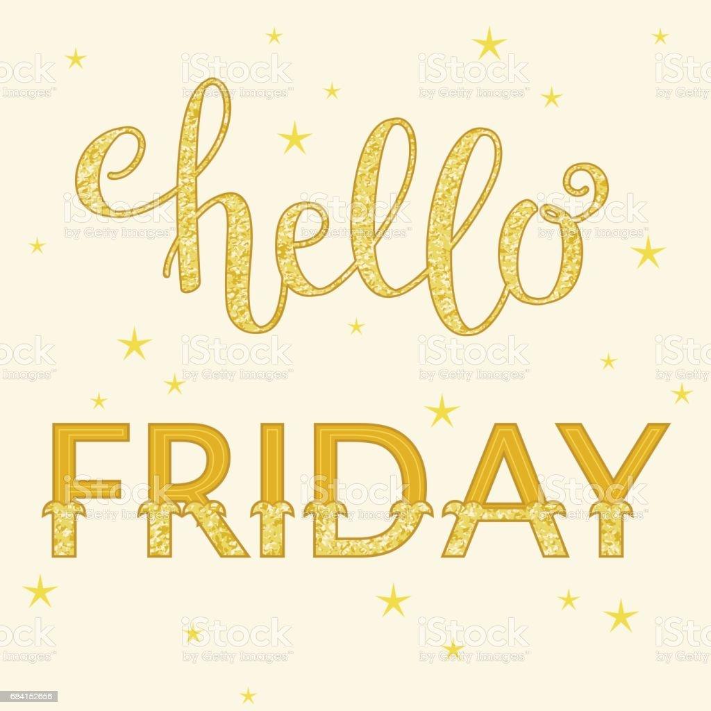 Lettering Hello Friday lettering hello friday - stockowe grafiki wektorowe i więcej obrazów abstrakcja royalty-free