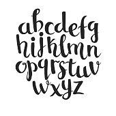 Lettering latin alphabet