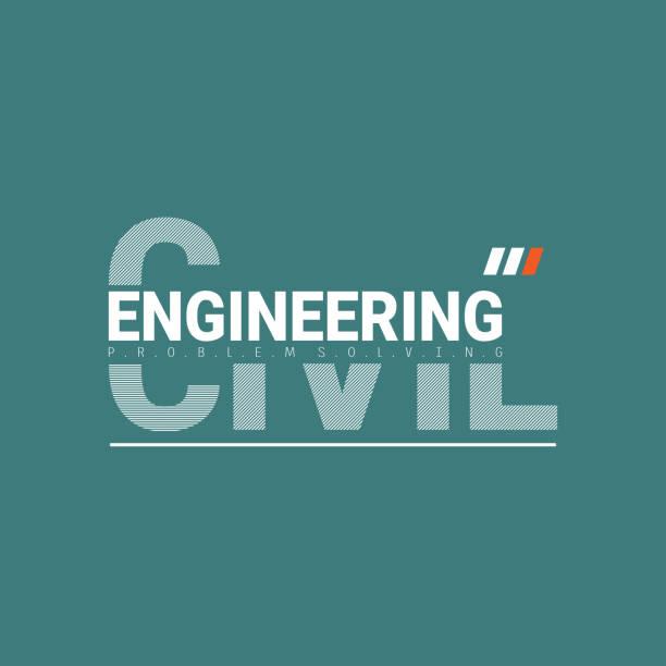 ilustraciones, imágenes clip art, dibujos animados e iconos de stock de letras de ingeniería civil con vector gráfico ilustración. t adecuado para el diseño de camisetas, ropa, sudaderas con capucha, etc. - civil rights