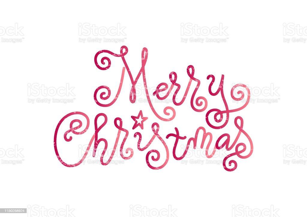Stern Frohe Weihnachten.Schriftzug Von Frohe Weihnachten In Rosa Mit Stern Und