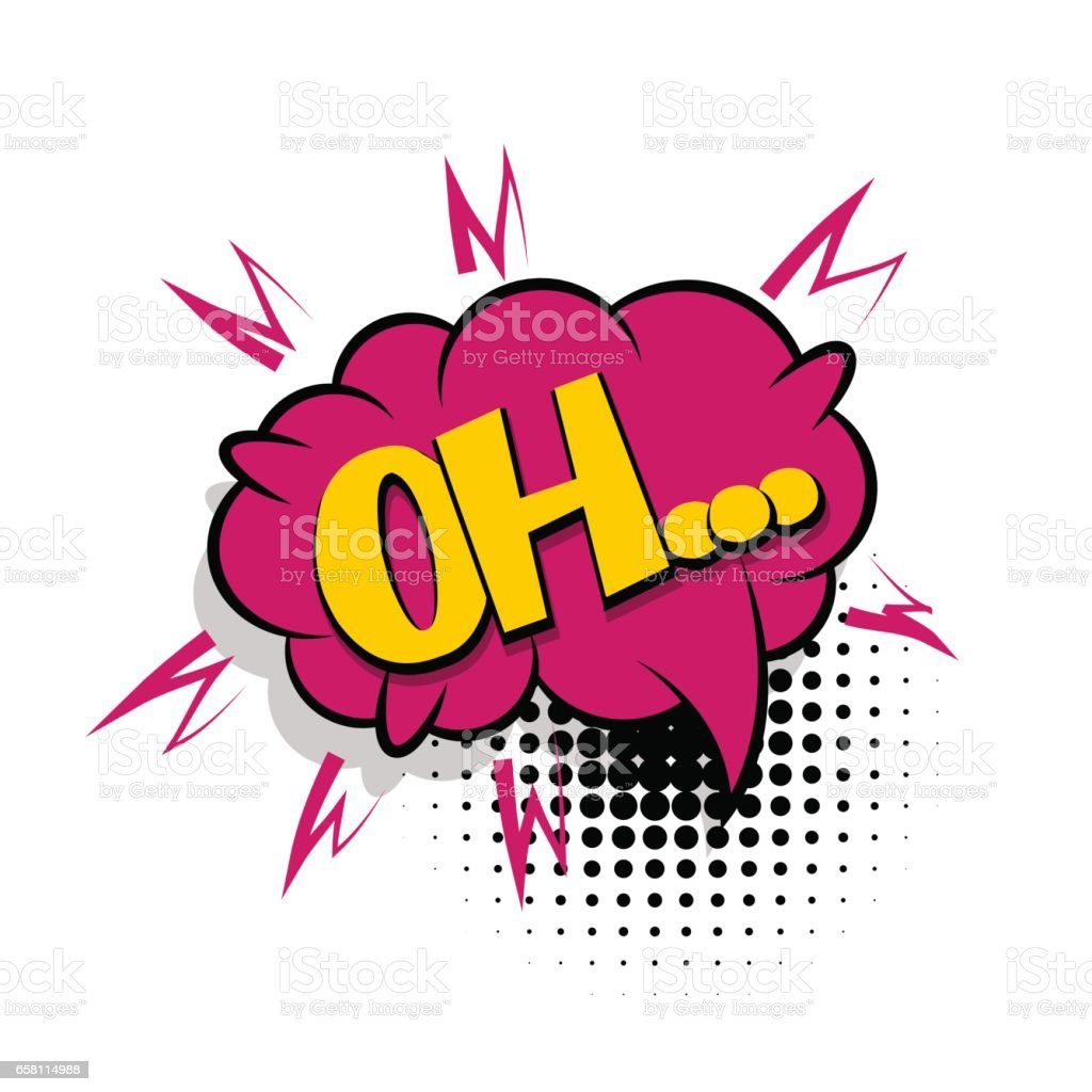 Lettering oh comic text speech bubble royalty-free lettering oh comic text speech bubble stock vector art & more images of abstract