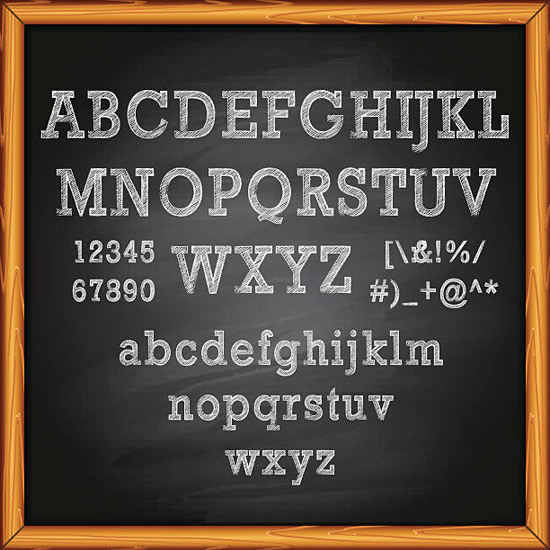 lettering on chalkboard - 作文の授業点のイラスト素材/クリップアート素材/マンガ素材/アイコン素材