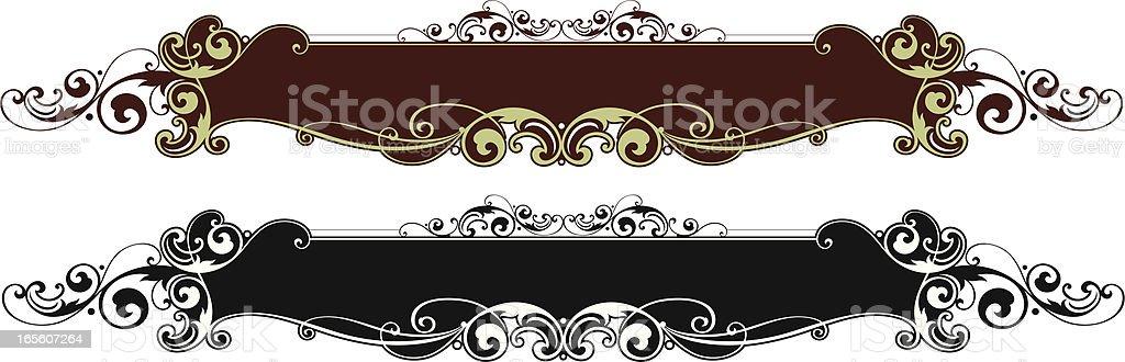 Lettering Panel vector art illustration