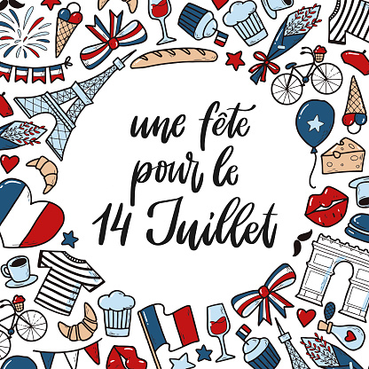 lettering quote for Bastille day