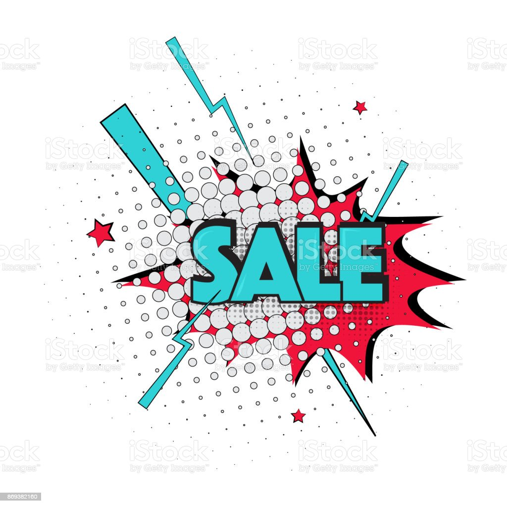 Lettering Sale Emotion Surprise Pop Art Text Marketing