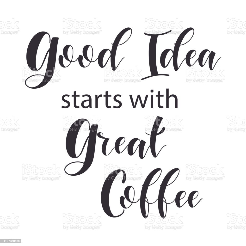 lettering sets of coffee quotes stock illustration