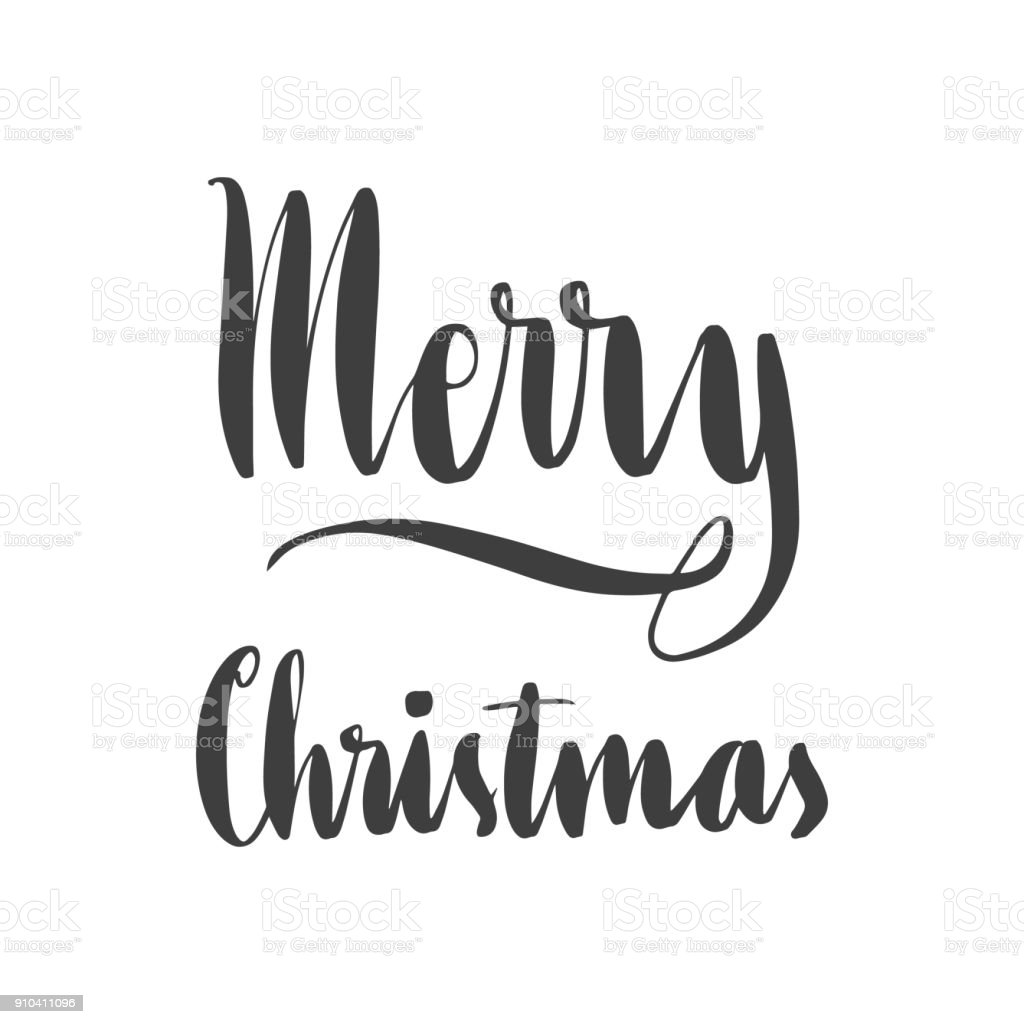 Lettering Words Merry Christmas Stock Vector Art & More Images of ...