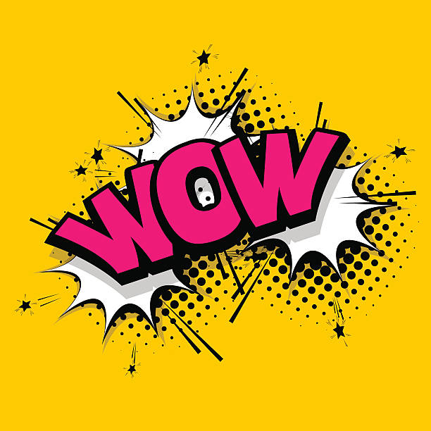 lettering wow emotion comics book balloon - wow stock-grafiken, -clipart, -cartoons und -symbole