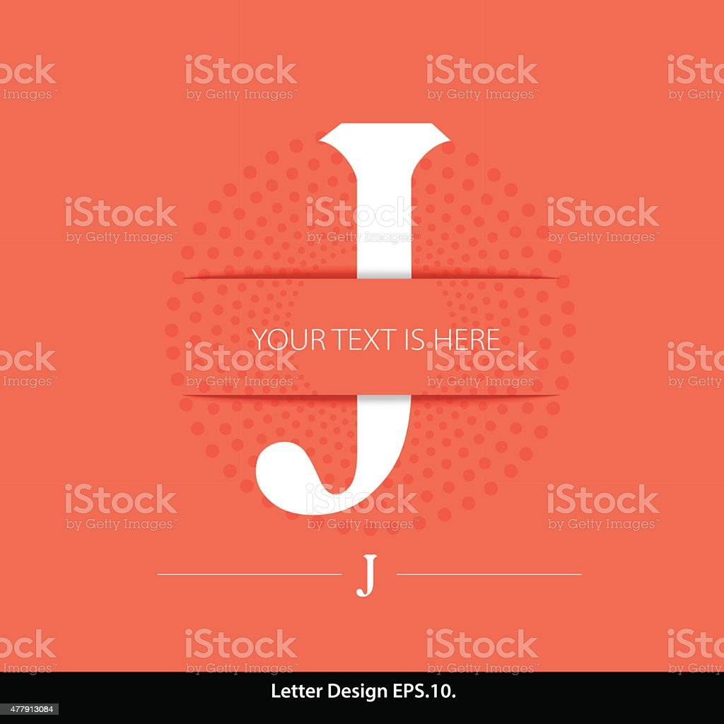 LetterJ vector alphabet inserted into the paper cut. vector art illustration