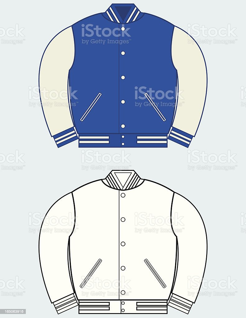 letterman jacket flats stock vector art more images of beauty