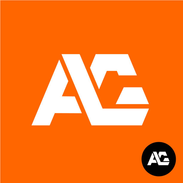 Letters A and G ligature symbol. Two letters AG sign. vector art illustration
