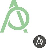 Letters A and P ligature logo