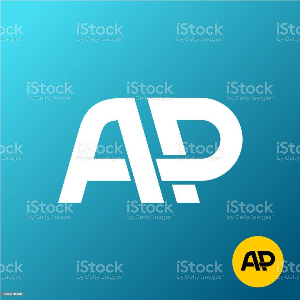 Letters AP monogram. A and P symbol. vector art illustration