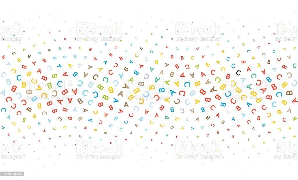 Cartas de fondo de textura de ABC - ilustración de arte vectorial