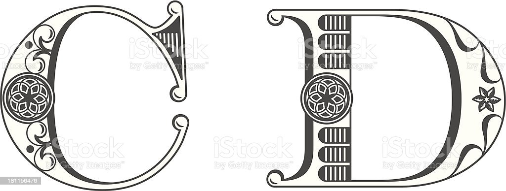 letter art c letters c and d stock vector amp more images of alphabet 16653 | letters c and d vector id181156476