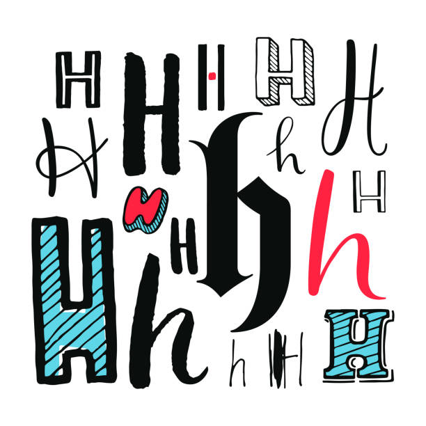 royalty free different letter styles alphabet silhouettes clip art