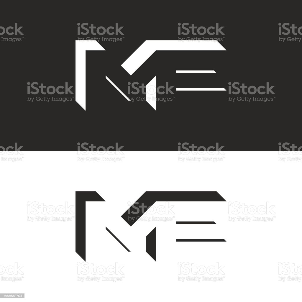 Letters me initials wedding invitation or business card emblem letters me initials wedding invitation or business card emblem creative isometric geometric shape m and magicingreecefo Choice Image