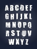 26 letters of the alphabet in a grunge style