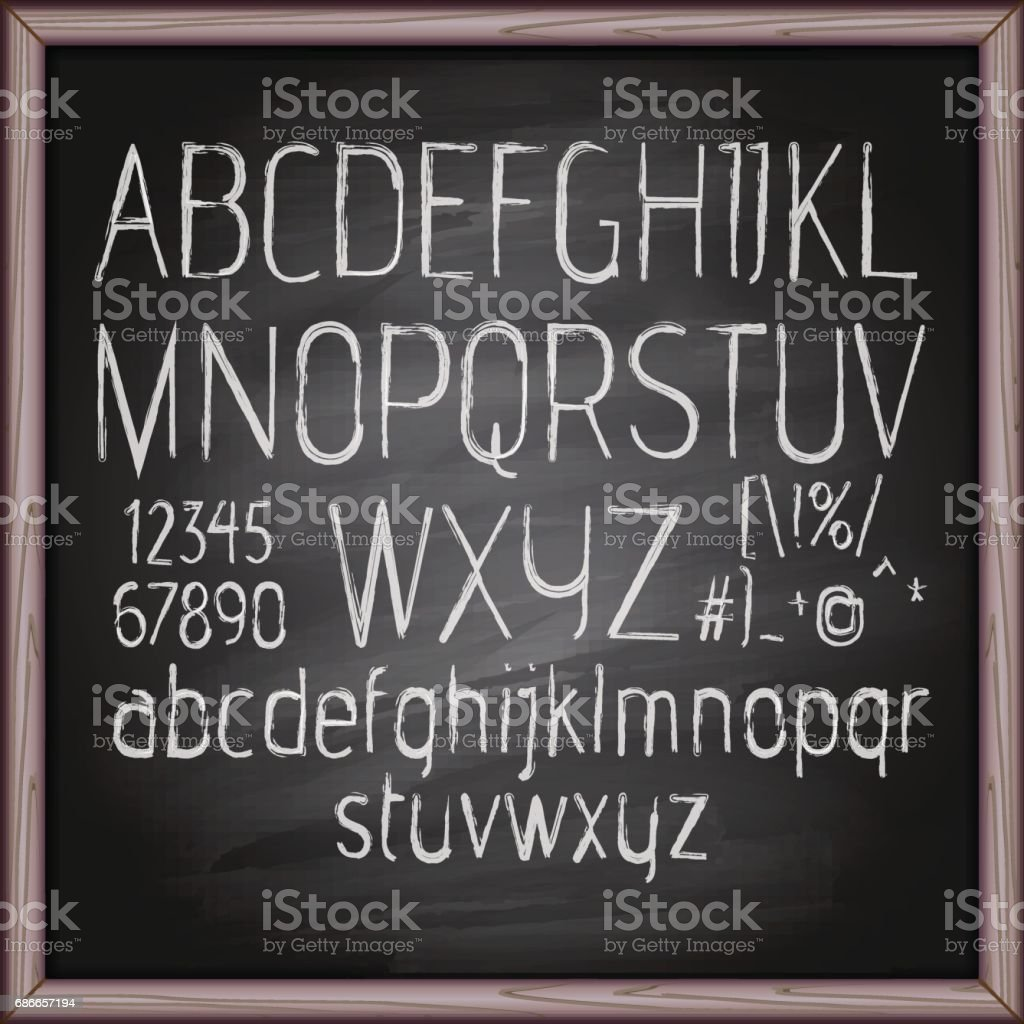 letters on chalkboard royalty-free letters on chalkboard stock vector art & more images of alphabet