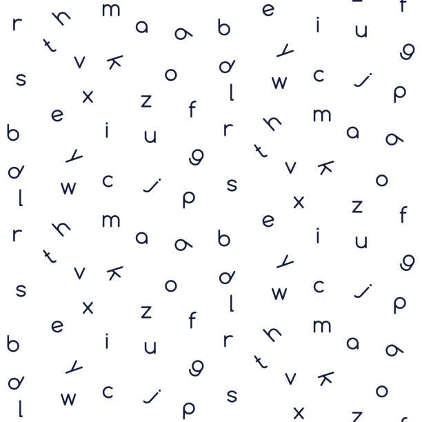 Letters seamless vector pattern monochrome color. Letters seamless vector pattern monochrome color. Simple alphabet website background. alphabet backgrounds stock illustrations