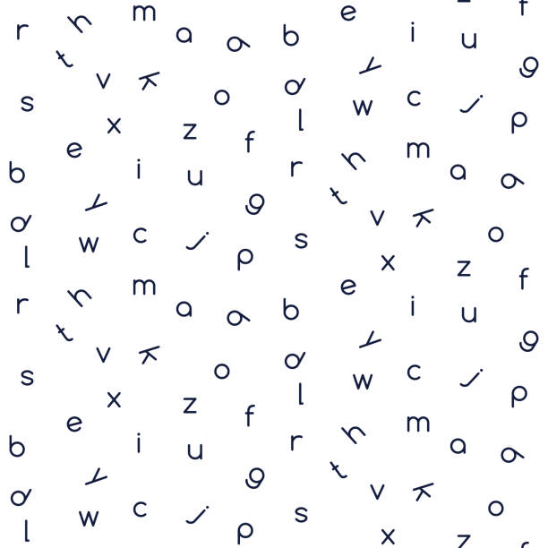 letters seamless vector pattern monochrome color. - alphabet backgrounds stock illustrations