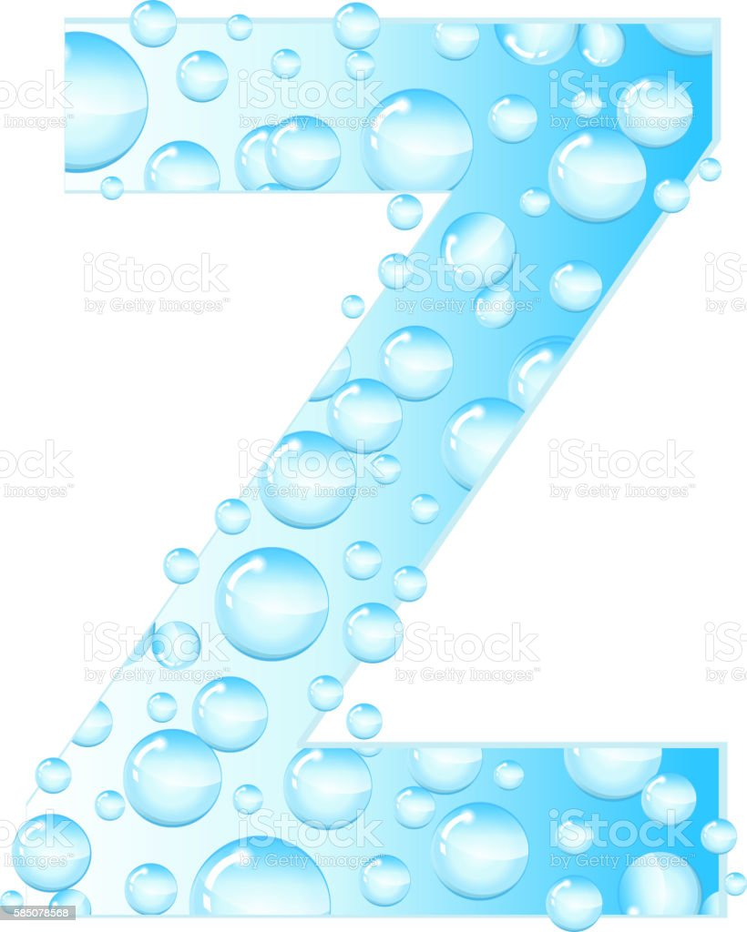 Letters Soap Bubbles Water Droplets Letter From The Royalty Free