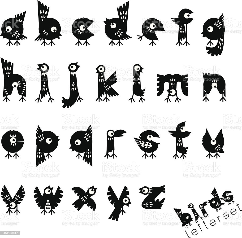 letterset BIRDS royalty-free letterset birds stock vector art & more images of alphabet