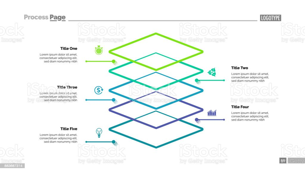 Level Diagram with Five Elements Template royalty-free level diagram with five elements template stock illustration - download image now