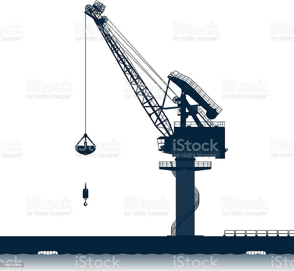 level luffing crane silhouette royalty-free stock vector art