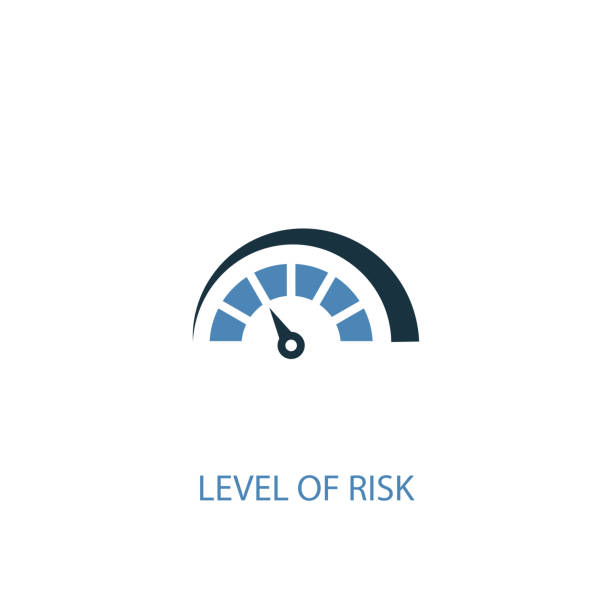 Level of Risk concept 2 colored icon. Simple blue element illustration. Level of Risk concept symbol design. Can be used for web and mobile UI/UX Level of Risk concept 2 colored icon. Simple blue element illustration. Level of Risk concept symbol design. Can be used for web and mobile UI/UX low stock illustrations