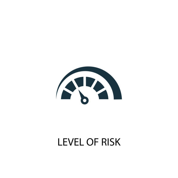 Level of Risk icon. Simple element illustration. Level of Risk concept symbol design. Can be used for web and mobile. Level of Risk icon. Simple element illustration. Level of Risk concept symbol design. Can be used for web and mobile. low stock illustrations