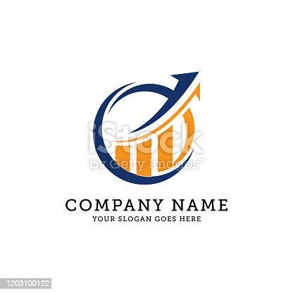 istock level up circle logo designs, business and finance logo vector illustration 1203100122