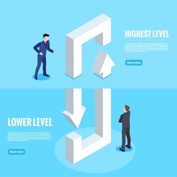 levels vector art illustration