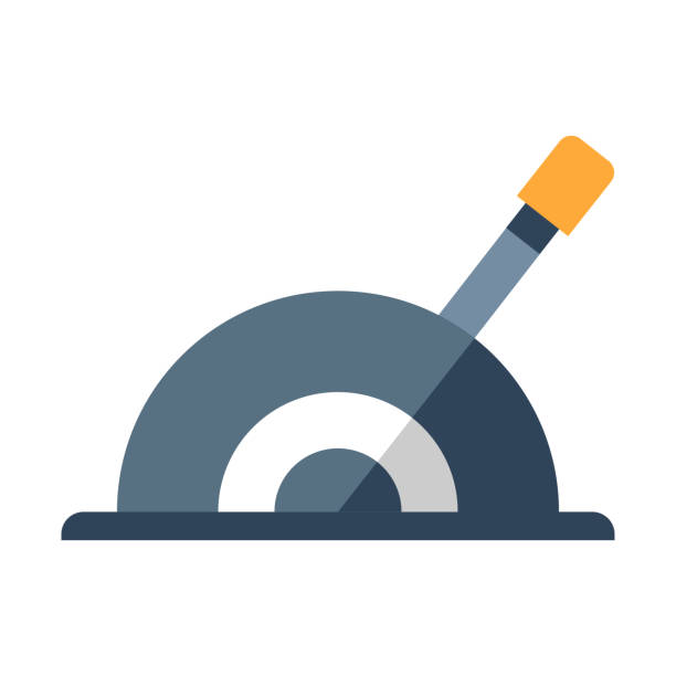 ilustraciones, imágenes clip art, dibujos animados e iconos de stock de figura plana de la palanca - interruptor