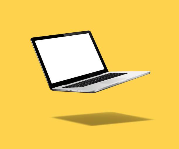 bildbanksillustrationer, clip art samt tecknat material och ikoner med levitation laptop mockup - laptop