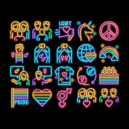 Lgbt Homosexual Gay neon glow icon illustration