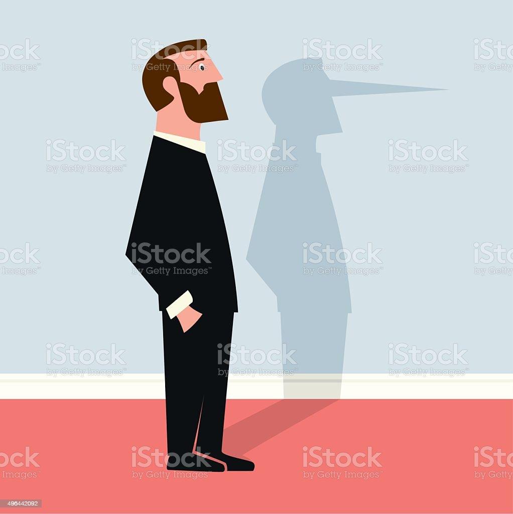 Liar vector art illustration