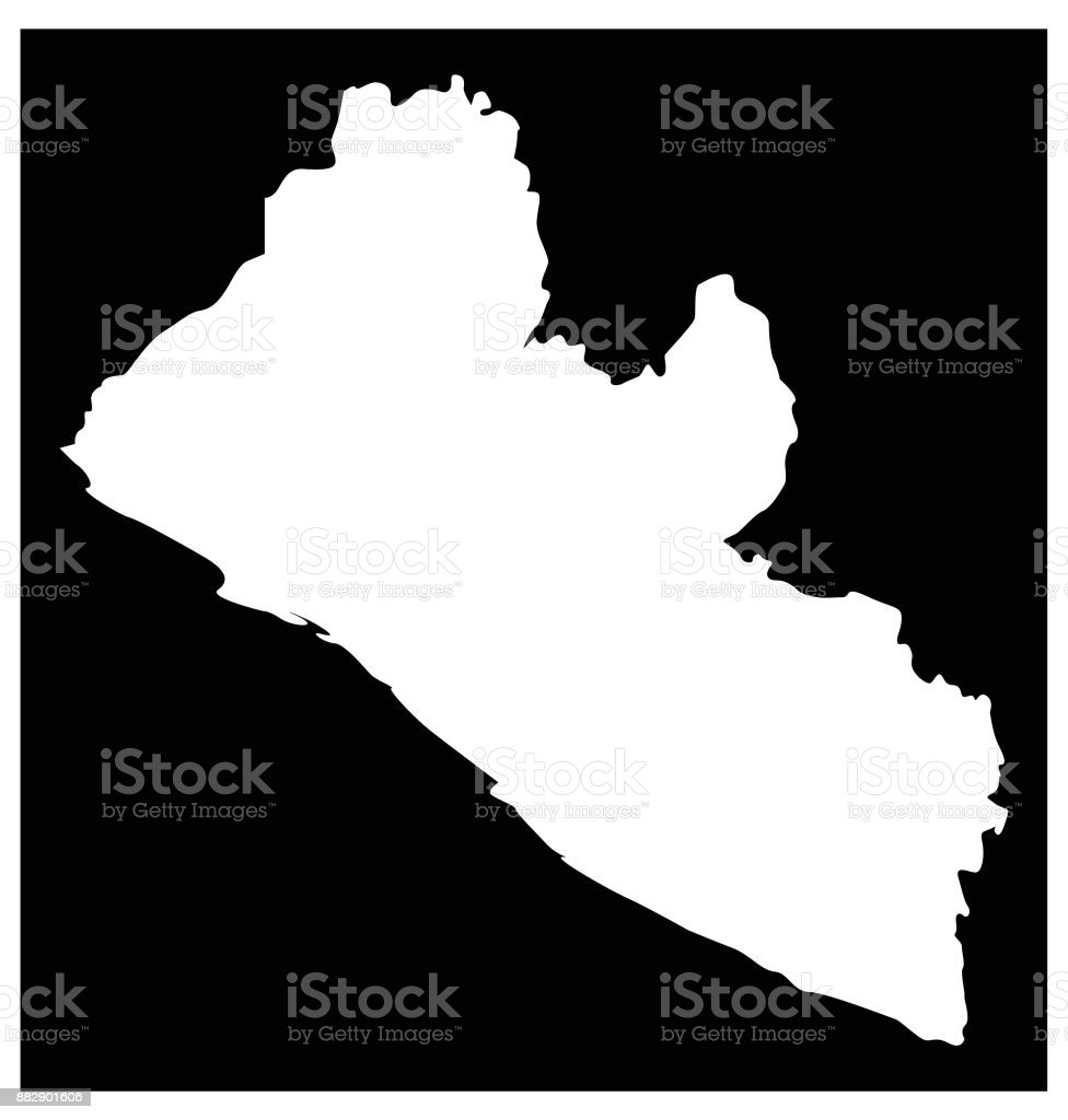 Liberia Map Stock Vector Art More Images Of Africa 882901606 Istock