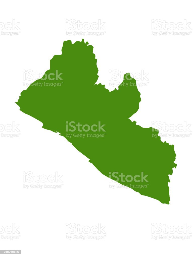 Liberia Map Stock Vector Art & More Images of Africa 938016640   iStock